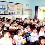 Đề thi toán lớp 3 Tiểu học A Xuân Vinh kì II: Nhà trường mua 150 hộp bánh, mỗi hộp có 4 cái bánh