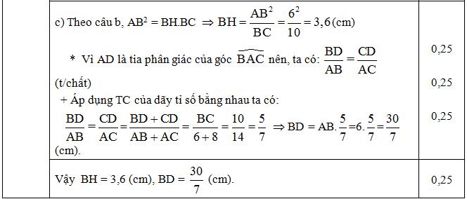 Đáp án câu 4 ý c