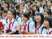 Khảo sát đầu năm lớp 7 môn Toán, Văn năm 2015-2016 Kim Sơn