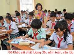 Kiểm tra khảo sát chất lượng đầu năm toán, Văn lớp 9 trường THCS Nguyễn Huệ