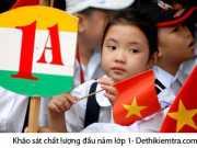 Khảo sát chất lượng đầu năm lớp 1 toán Phòng GD&ĐT Anh Sơn