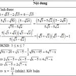 Đề kiểm tra chất lượng giữa học kì 1 môn Toán lớp 9 năm 2015