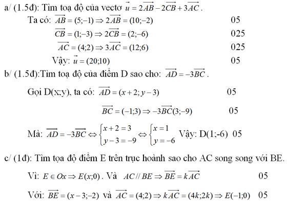 Đáp án và giải câu 3 đề kiểm tra 1 tiết hình chương 1
