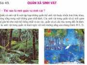 Quần xã sinh vật: Giải bài 1,2,3,4 trang 149 Sinh học 9