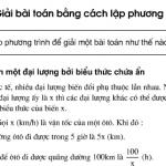 Bài 34,35,36 trang 25,26 sách Toán 8 tập 2: Bài toán bằng cách lập phương trình