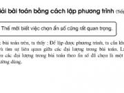 Bài 37,38,39 trang 30 Toán lớp 8 tập 2: Bài toán bằng cách lập phương trình (tiếp theo)