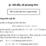 Bài 1,2,3 ,4,5 trang 6,7 Toán lớp 8 tập 2: Mở đầu về phương trình