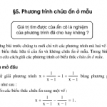 Bài 29,30,31 ,32,33 trang 22,23 Toán 8 tập 2: Luyện tập phương trình chứa ẩn ở mẫu