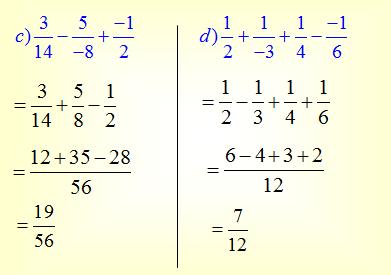 Đáp án câu c,d