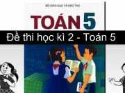 Kiểm tra chất lượng cuối kì 2 Toán 5 trường Tiểu học Trần Hưng Đạo