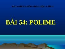 Giải bài 1,2,3, 4,5 trang 165 Hóa lớp 9: Polime