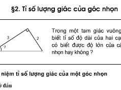 Bài tập 10,11,12, 13,14,15 ,16,17 trang 76, 77 Toán 9 tập 1: Tỉ số lượng giác của góc nhọn