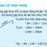 Bài 1,2,3 trang 50 SGK Toán 5: Cộng hai số thập phân