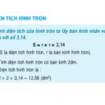 Giải bài 1,2,3 trang 100 SGK Toán 5: Diện tích hình tròn