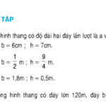 Bài tập 1,2,3 trang 94 Toán 5: Luyện tập diện tích hình thang