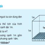 Bài 1,2,3 trang 118 SGK Toán 5: Mét khối