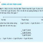 Giải bài 1,2 trang 132 Toán 5: Cộng số đo thời gian