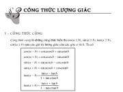 Giải bài 1,2,3 ,4,5,6 ,7,8 trang 153,154,155 Đại số lớp 10: Công thức lượng giác
