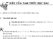 Giải bài 1,2,3,4 trang 105 Đại số lớp 10: Dấu của tam thức bậc hai