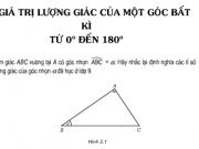 Bài tập 1,2,3,4, 5,6 trang 40 hình 10: Giá trị lượng giác của một góc bất kì từ 0° đến 180°