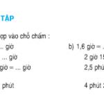 Bài 1,2,3,4 trang 134 SGK Toán 5: Luyện tập cộng trừ số đo thời gian