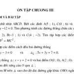 Bài 1,2,3,4,5 ,6,7,8,9,10 trang 93,94 SGK Hình học lớp 10: Ôn tập chương 3