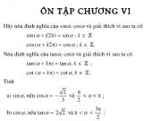 Bài ôn tập chương 6 Đại số 10: Bài 1,2,3 ,4,5,6 ,7,8 trang 155,156