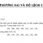 Bài tập 1,2,3 trang 128 SGK Đại số lớp 10: Phương sai và độ lệch chuẩn