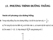 Bài 1,2,3,4, 5,6,7 ,8,9 trang 80,81 hình học 10: Phương trình đường thẳng