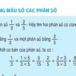 Bài 1,2 trang 116 SGK Toán 4: Quy đồng mẫu số các phân số