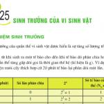 Sinh trưởng của vi sinh vật: Bài 1,2,3 trang 101 Sinh  lớp 10