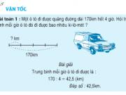Giải bài 1,2,3,4 trang 139,140 Toán 5: Luyện tập vận tốc