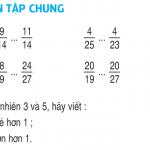 Tiết 111 Luyện tập chung so sánh hai phân số (phần 1) trang 123