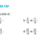 Luyện tập so sánh 2 phân số có cùng mẫu số