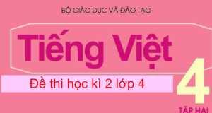 Trường TH Kỳ Phú kiểm tra cuối năm môn Tiếng Việt lớp 4 có đáp án năm 2017