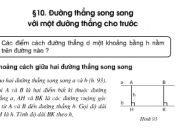 Bài 70,71,72 trang 103 Toán 8 tập 1: Luyện tập đường thẳng // với một đường thẳng cho trước