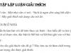 Luyện tập lập luận giải thích trang 87 Ngữ Văn 7 tập 2