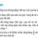 Luyện tập tìm 2 số khi biết tổng và tỉ số (tiếp theo) trang 149