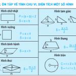 Tiết 159 + 160 trang 166,167 SGK Toán 5: Ôn tập về tính chu vi diện tích của một số hình