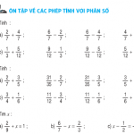Bài 1,2,3,4 trang 169 Ôn tập về các phép tính với phân số (Tiếp)