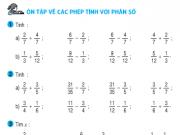 Bài tập 1,2,3,4 trang 170 – Ôn tập về các phép tính với phân số tiếp theo