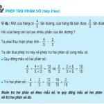 Tiết 118 Toán 4: Phép trừ phân số (tiếp theo)