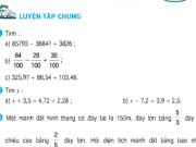 Giải bài 1,2,3,4,5 trang 177,178 SGK Toán 5: Luyện tập chung tiết 172