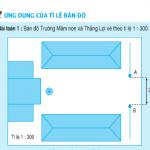 Bài 1,2,3 trang 157 Toán 4: Ứng dụng của tỉ lệ bản đồ