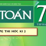 Trường THCS Chu Văn An thi học kì 2 lớp 7 môn Toán năm 2017