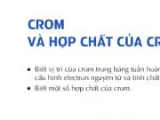 Bài 34 – Crom và hợp chất của Crôm Hóa 12: Bài 1,2,3, 4,5 trang 155