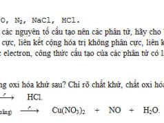 04 câu trong đề thi kiểm tra Hóa học lớp 10 kì 1 mới nhất