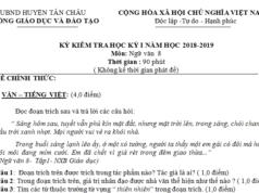 Kiểm tra kì 1 lớp 8 môn Văn có đáp án Phòng GD Tân Châu Giới thiệu về ngôi trường mà em đang học
