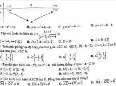 [THPT Chuyên Sư Phạm] Đề thi kì 1 lớp 10 môn Toán 2018 2019: Tìm tọa độ trọng tâm G