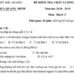 Đề thi kì 1 môn Địa lớp 6 THCS Quang Minh có đáp án – So sánh núi già và núi trẻ